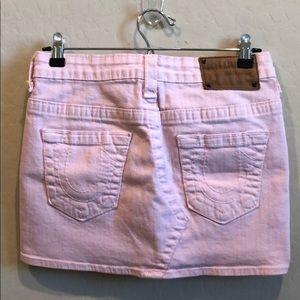 True Religion Pink Denim Mini Skirt